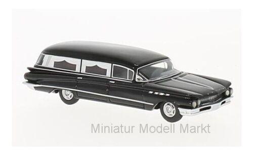 #87371 BoS-Models Buick  Flxible Premier Hearse schwarz 1960-1:87
