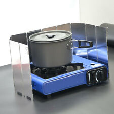 10 Plates Foldable Camping Hiking Cooking Cooker Gas Stove Wind Shield Screen NF