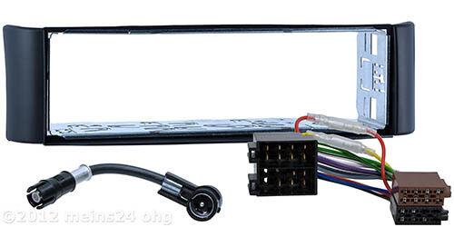 Radio diafragma para Smart Fortwo 450 coche montaje marco ISO adaptador cable antena