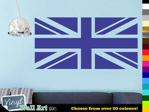 Union-Jack-UK-Flag-Vinyl-Wall-Art-Sticker-Decal-British-Flag-in-Various-Colours