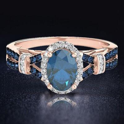 Fashion Mariage Fête Bijoux Bijoux Oval Cut Pink Topaz Silver Ring Taille 8