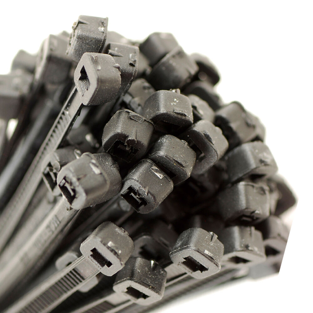 300 BLACK CABLE TIES, 2.5mm x 100mm PLUS A FREE PACK OF 2.5 x 100 WHITE TIES *