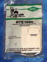 Nte1820 Integrated Circuit Module, Dual Af Po, 30w/ch, Dual Power Supply