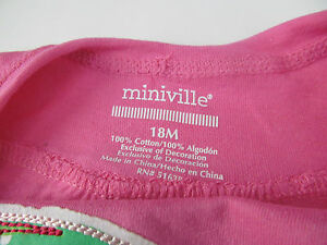Miniville Pink//Umbrella Sleeveless Top New without Tags
