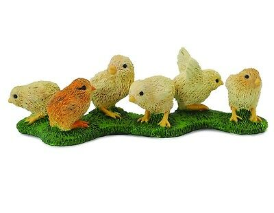 Animals & Dinosaurs Action Figures Rapture Chick 6 Piece 6 Cm Farm Collecta 88479