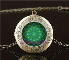 Yantra Madala Yoga Buddha Healing Pendant Amulet Necklace Locket & Velvet Pouch