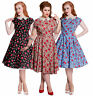 Hell Bunny Francine Rockabilly Pinup Vintage 50s  Tea Dress XL - 4XL