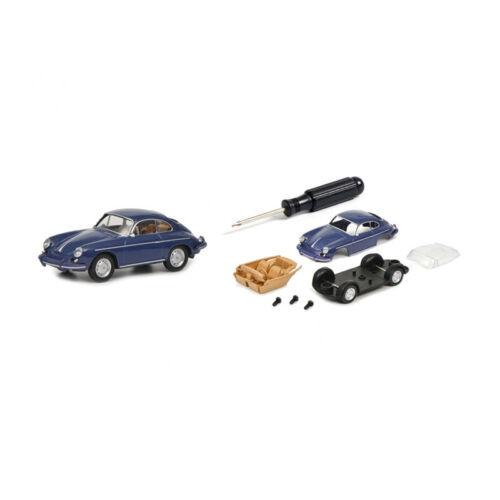 ° Schuco 452019900 kit Porsche 356 azul escala 1:64//3 pulgadas de nuevo