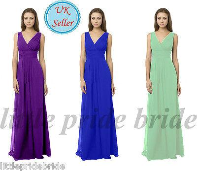 A-Line/Princess Full-Length Chiffon Evening Party Prom Bridesmaid Dress (JS23)
