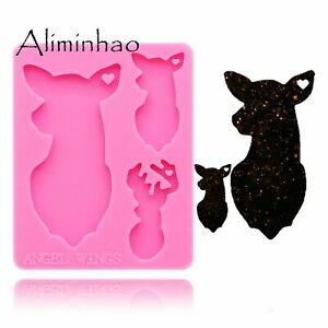 High Heels Silicone Molds Shoes Epoxy Resin Craft DIY Mould for Keychain Making
