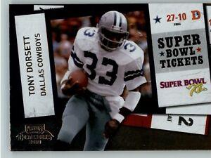 2010 Playoff Contenders Super Bowl Ticket #29 Tony Dorsett - Dallas Cowboys