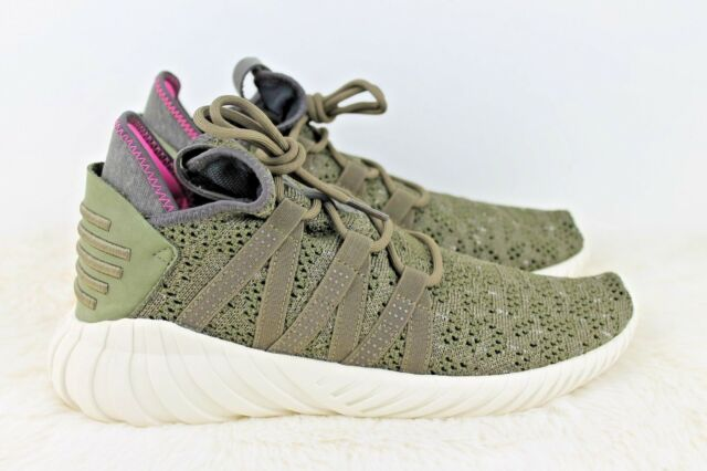 more photos 47cf5 38567 Adidas Originals Women Tubular Dawn Trace Olive Creme White New Shoes BZ0627  8.5