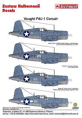 Techmod Decals 1/32 VOUGHT F4U-1 BIRDCAGE CORSAIR Fighter