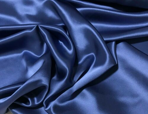 Periwinkle Blue Silk Charmeuse Fabric