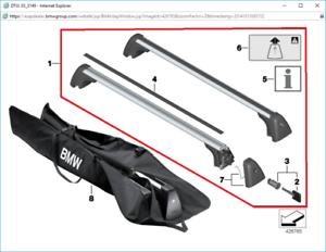 Genuine BMW Roof Bars F48 X1 PN 82712350126 UK NEW