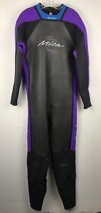 MICA-Black-Purple-Blue-NEOPRENE-One-Piece-Long-Sleeve-Wet-Suit-Size-XXL
