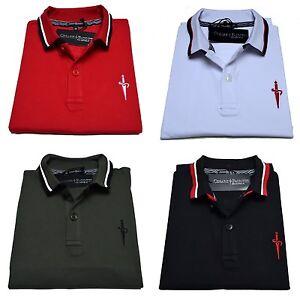 Polo-Cesare-Paciotti-Uomo-Men-t-shirt-100-Monte-Carlo-Nero-Bianco-Rosso-Grigio