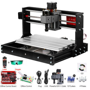 3 Axis Wood PCB Engraving DIY PRO CNC 3018 Machine Router w// 5500mw Laser Head