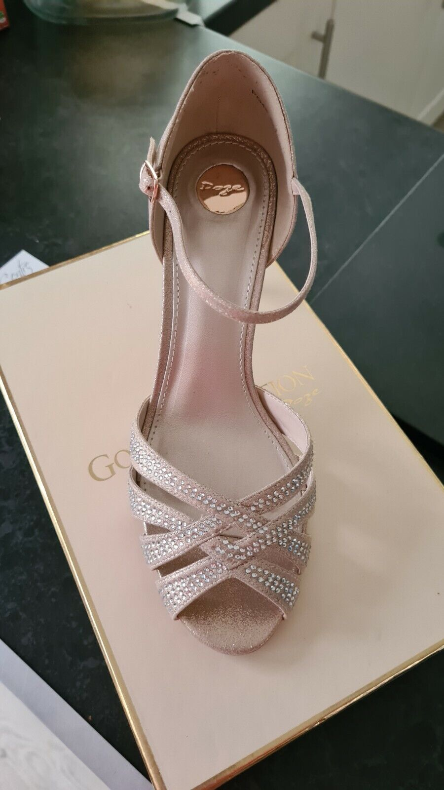 Champagne Wedding shoes size 8