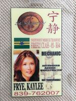 Serenity/firefly Id Badge-mechanic Kaylee