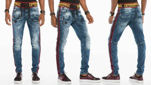 CIPO /& Baxx Rocky Jean homme élastique ceinture denim slim fit toutes les tailles
