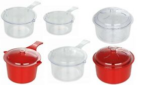 Easy-Cook-Microwave-Sauce-Pan-Multi-Steamer-Polly-Carbonate-NEW