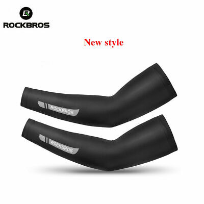 RockBros Summer Cycling Ice Silk Arm Covers Sun Protection Oversleeve 1 Pair Cycling Equipment