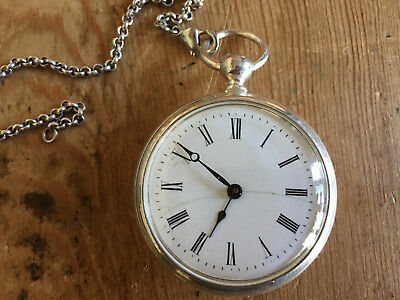 Manual Winding Pocket Watch Watch Pocket Active Used 1 21/32in It Works With The Best Service