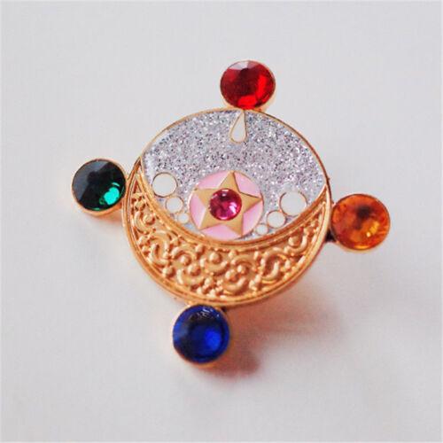 Sailor Moon Brooch Metal Badge Girl's Christmas Gift New Year  Cosplay Gift Pin