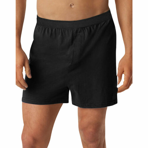 Hanes Men/'s TAGLESS Knit Boxers with Comfort Flex Waistband 3X-5X 3-Pack