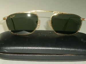 de7232c243 48MM SMALL B L RAY BAN CLASSIC METALS GP G15 SLEEK RECTANGULARS ...