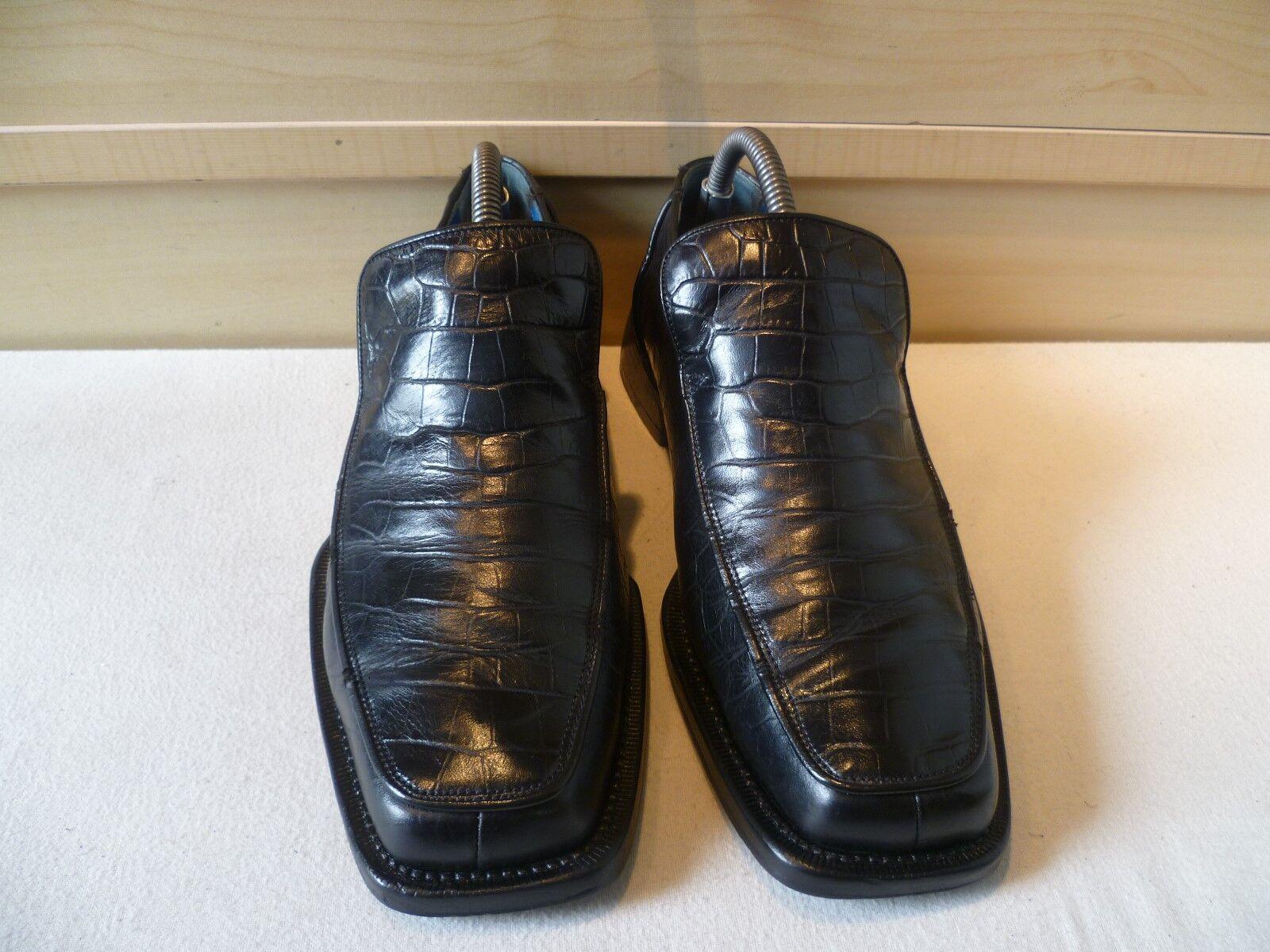 Vtg Oliver UK Sweeney full Leder loafer UK Oliver 7.5 41.5 mens sq toe croc skin effect 3880ae
