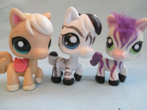 Littlest Pet Shop Lot of 3 Random Different Horse Pony Animal Figures Authentic