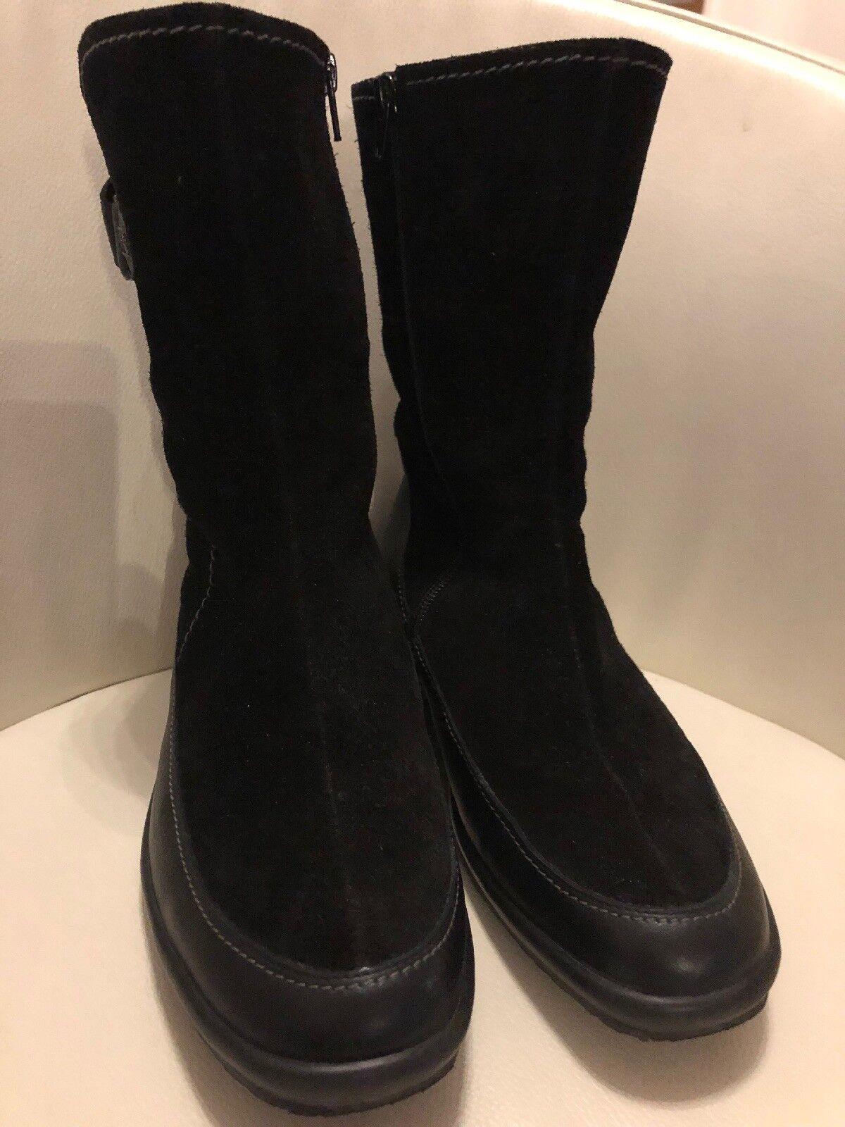 Damen Lederstiefel mit Lammfell Gr. 5 ½ schwarz schwarz schwarz neuwertig dae309