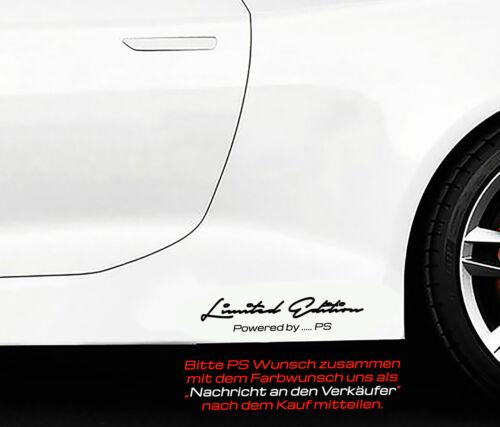 Wunsch PS Motorsport Aufkleber Sticker Folie KW Limited Edition Powered by..