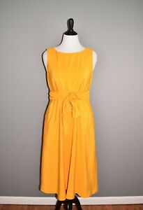 ANN-TAYLOR-NEW-148-Sleeveless-Belted-Midi-Shift-Dress-Large