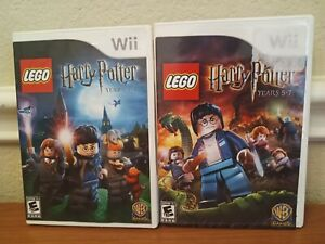 Lot of 2 LEGO Harry Potter Nintendo Wii Video Games Years 1-4 & 5-7