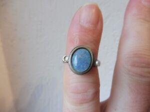 Bella, vecchio anello __ ARGENTO 925 __ con Opal __