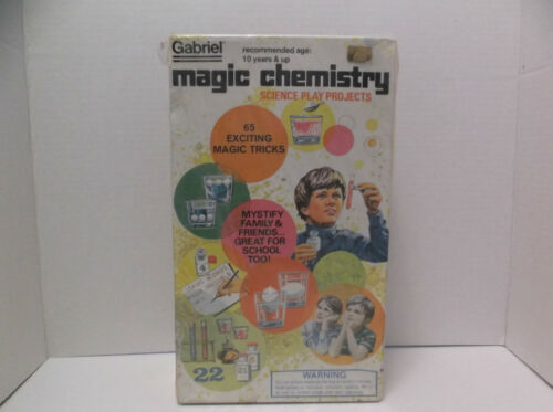 Science Play Projects Vintage 1977 Gabriel MAGIC CHEMISTRY SET No. 32200