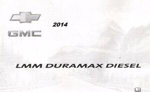 GMC Silverado Diesel Supplement Express Owners 2014 Savana Sierra Manual Chevy E4txpqwp