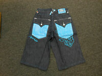 Coogi Men's Blue Denim Jean Shorts With Tags Turquoise Design $135 Retail