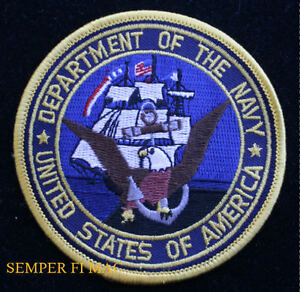 11c4cef389f DEPARTMENT OF THE US NAVY PATCH US MARINES DOD BALD EAGLE USS PIN UP ...