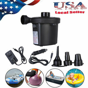 Electric Air Pump Inflator Deflate 3 Nozzles for Air Bed Mattress Boat 110V