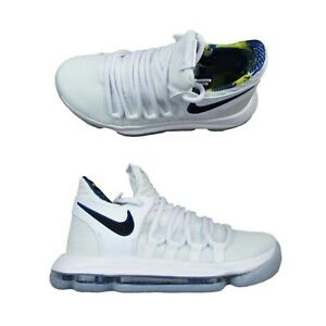 49927e270eb0 Nike Zoom KD 10 Limited Golden State Warriors White Game Boys ...