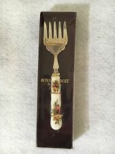 "Royal Albert Old Country Roses Hors D'Oeuvre Appetizer Serving Small 6"" Fork F/S"