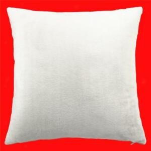 45cm-Square-Velvet-Cushion-Cover-Home-Decor-Waist-Throw-Pillow-Case-White