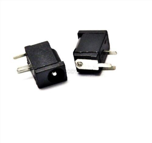 5Pcs Dc Power Jack Socket DC-002 1.1X3.5 Mm Black US Stock t