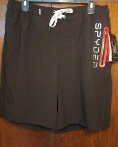 Quick Dry Lightweight Swimwear Spyder Men/'s Hydro Series Laser-Cut Swim Short