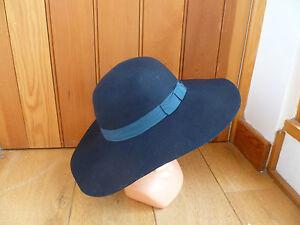 MONSOON ACCESSORIZE 100% WOOL FELT WIDE BRIM HAT NAVY BURGUNDY BEIGE RUST BLACK