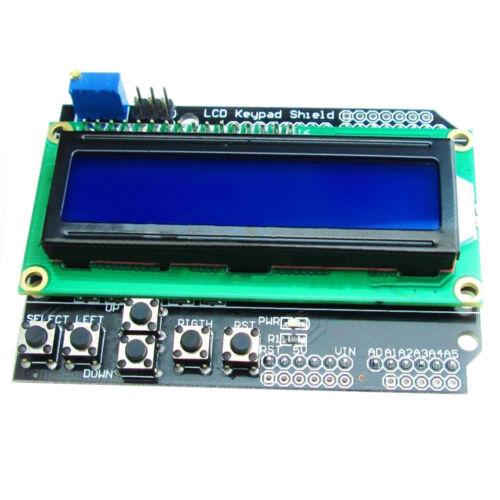 1602 LCD with Keypad Shield Board Blue Backlight Module for Arduino U4F1